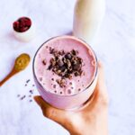 Strawberry and Peach Smoothie Bowl