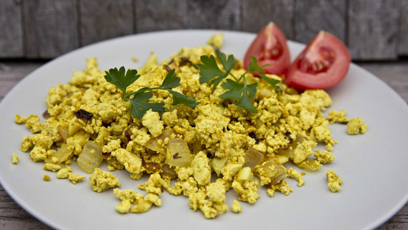 Tofu Scramble. Image by Meged Gonzi