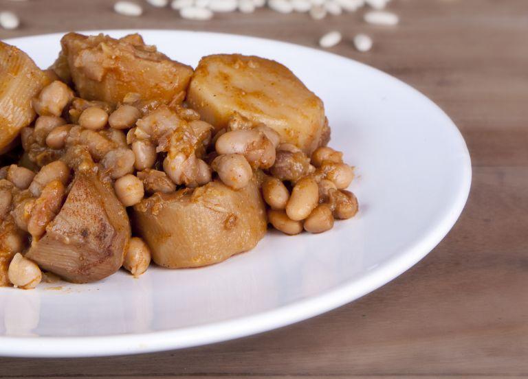 Marina's Hamin (Cholent) on a plate