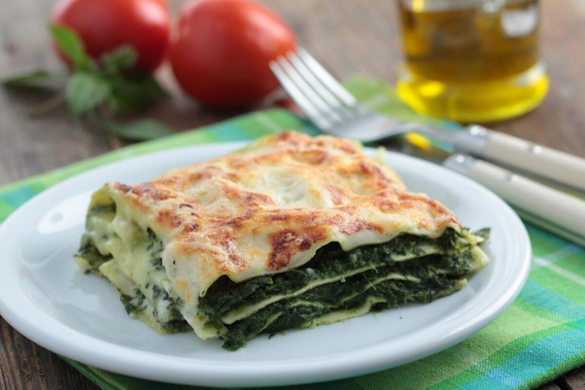 Spinach vegan lasagna