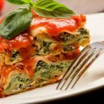 plant based spinich lasagna
