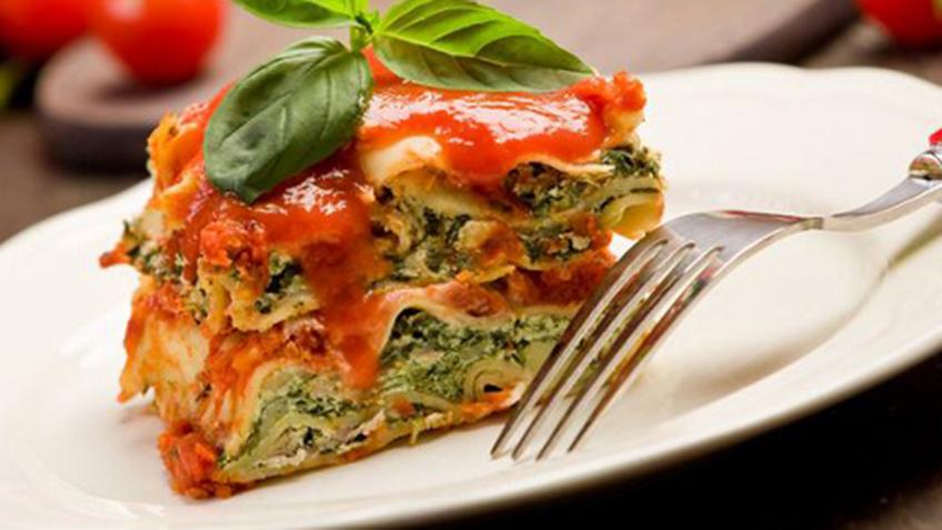 plant based spinich lasagna