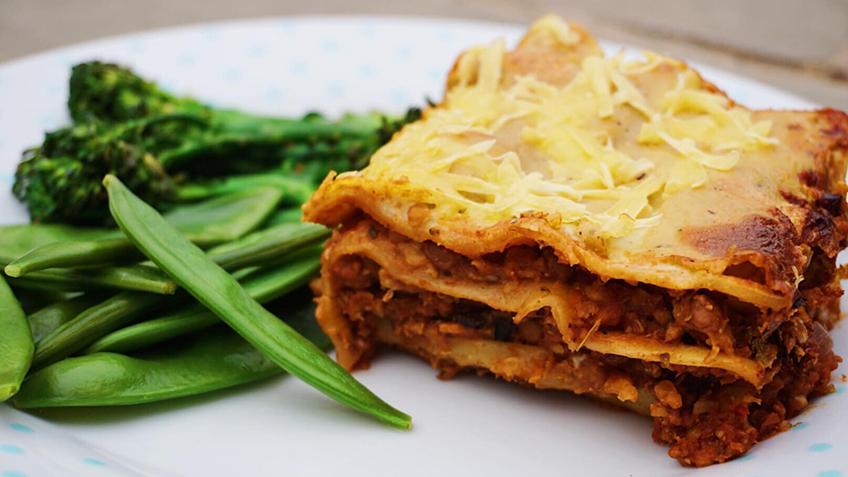 vegan lasagne, image by rebecca gledhill