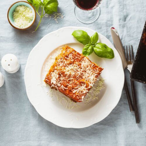 homemade vegan lasagna